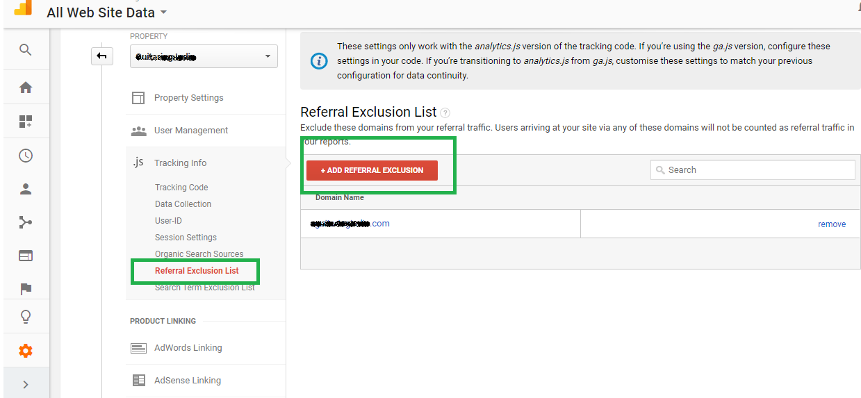 Adding Payment Gateway to Referral Exclusion List Google Analytics